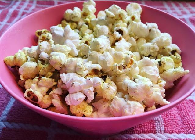 lekkere snack mager zelfgemaakte popcorn